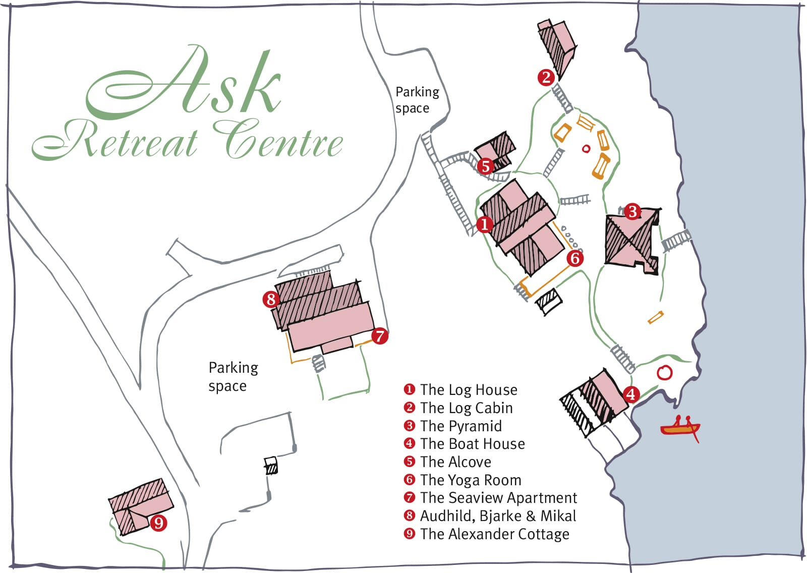 Map of Ask Retreat Centre