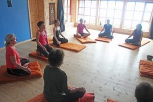 meditation in the yoga room